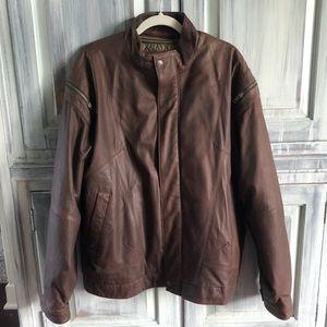 Wilson's Men's Brown Leather Bomber Jacket NEW